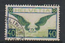 Switzerland - 1933, 40c Blue & Green (Grilled Gum) stamp - F/U - SG 322a