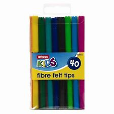 fibre feutres Paquet de 40 - Couleurs assorties -tips Pens & Markers enfants