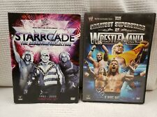 WWE 2 DVD LOT STARRCADE ESSENTIAL COLLECTION + GREATEST SUPERSTARS WRESTLEMANIA