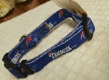 "New England Patriots, NFL, Dog Collar, 10-14"" adj.Vintage LOGO, Made In U.S.A."