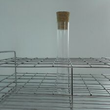 Plastic Test Tube With Cork 25x150 mm 6-inch 50ml Clear PC  Pack50,