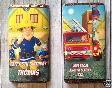 PERSONALISED Fireman Sam CHOCOLATE BAR WRAPPER fits Galaxy 114g Birthday Easter