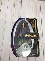 Star Trek TNG Counselor Deanna Troi Lavendar DST Figure 2006 Art Asylum C12