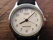 Damen Quartz Armbanduhr CASIO 701A2-Z00 / 705 LQ-398 Lederarmband Schwarz Gr.14