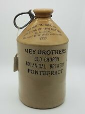More details for vintage antique stoneware beer bottle old church brewery hey brothers 1/2 gallon