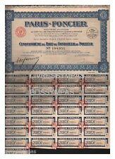 PART DE FONDATEUR CINQUANTIEME PARIS FONCIER  1927 (réf  9)