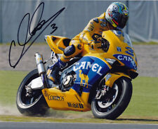 Max Biaggi Signed 8X10 inches 2003 Camel Pramac Pons Photo