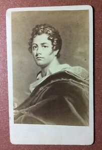 OLD CDV West. 1890s Lord BYRON GEORGE GORDON - English poet-romantic