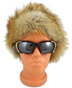 GENUINE Men Women Red FOX FUR HAT winter new