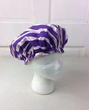 Vintage Purple Stripe SHOWER CAP 1960's Era Plastic