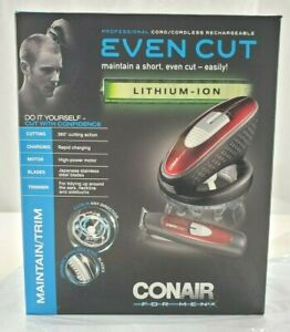 New Conair Even Cut Rotary Cordless Hair Cutting Kit System W/ Trimmer