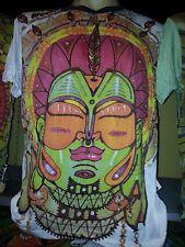 Men T Shirt short sleeve cotton Om  Ganesha Chakra Mandala Love Hippie M WEED cd