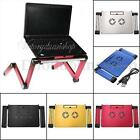 NEW 360° Adjustable Foldable Laptop Notebook Desk Table Stand Bed Tray With Fan