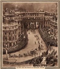 CORONATION 1937. Sailors line the route in Trafalgar Square. Admiralty Arch 1937