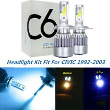 LED Headlight Kit H4 9003 8000K Ice Blue Hi/Low Bulbs for HONDA CIVIC 1992-2003