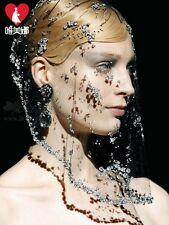 New Design Crystal Bridal Veil Short Birdcage Cover Face Wedding Evening Veils