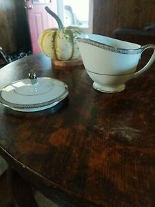 Mikasa Barclay Pattern Creamer & Sugar lid ONLY Discontinued