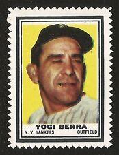 1962 TOPPS BASEBALL STAMPS - YOGI BERRA NM+ HOF NEW YORK YANKEES (001)