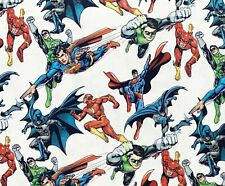Cotton Fabric - Superheros Batman Superman Licensed Craft Fabric Material Metre