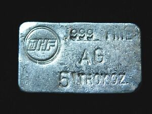 DHF Poured 5 oz .999 Silver Bar - Low Production Bar!!!