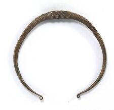 Indian Antique Collectible Torque Called Hansuli – Tribal Neck Jewelry G18-38 US