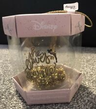 BNIB DISNEY Tinkerbell Christmas Tree Glitter Bauble Gold/Clear - Xmas - Primark