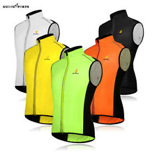Mens Cycling Vest Sleeveless Shirt Bike Breathable Tops Hi-Viz Jacket S-2XL