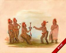 BLACKHAWK PROPHET NATIVE AMERICAN INDIAN TRIBE PAINTING ART REAL CANVAS PRINT
