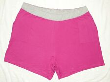 JMS Plus French Terry Two Tone Pocket Shorts Fushia with Steel Waistband 4X NEW