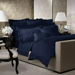 Ralph Lauren POLO NAVY 2PC Bedding Set Queen Flat Sheet & Standard Sham NEW