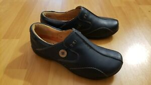New Clarks Unstructured Womens Unloop 85074 Sz 7.5 M Leather Slip On Loafers