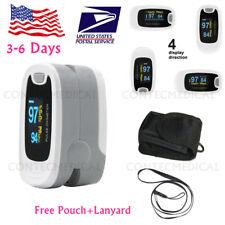Oled Finger Pulse Oximeter Blood Oxygen Monitor Spo2 Heart Rate Tester Free Bag