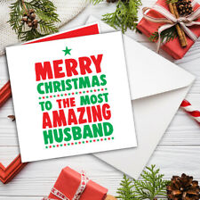 HUSBAND CHRISTMAS CARD ROMANTIC LOVE Amazing Husband FREE P&P