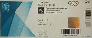 Eintrittskarte Olympia 12.8.2012 Rhytmische Sportgymnastik Sieg Russia Q43