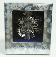 Metropolitan Museum of Art 2012 Snowflake Silver Plated Christmas Ornament