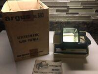 Vintage Argus 693 Electromatic Slide Film Viewer Electronic Box Manual EUC!