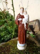 Saint Antoine de Padoue tenant l'enfant Jésus dans les bras , biscuit 9,5 cm