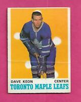 1970-71 OPC  # 219 LEAFS DAVE KEON   GOOD CARD  (INV# D5716)