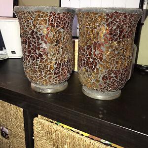 "Glass Home Decor Vases (Brown/Rust) 7"" L x 5"" W"