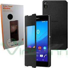 SCR30 Custodia originale SONY Style Cover Window p Xperia Z3+ Z3 PLUS NERA stand