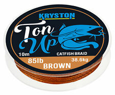 1,80 EUR / Meter KRYSTON Ton Up GRAVEL BROWN 10m 85lb Catfish Braid Wallervor...
