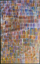 Jeannie Mills Pwerle, Authentic Aboriginal Art.  Size 150cm x 100cm, 'Bush Yam'