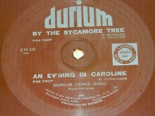 By the Sycamore tree / evening in Caroline : Durium single sided 78 flexi EN-10