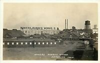 1907-1918 Real Photo PC Bowers Rubber Works Pittsburg CA Contra Costa Co Unpostd