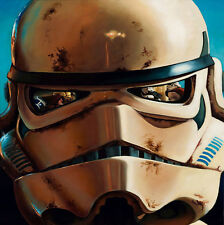 "47"" Street Art Graffiti Urban Canvas STAR WARS TROOPER HELMET Australia"