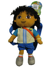 "GO DIEGO GO Plush Backpack 14"" with Zipper Opening BRAND NEW WITH TAGS"