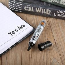 Whiteboard Marker Pen White Board Dry-Erase Mark Sign Bullet Tip Ink Black Color
