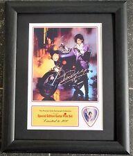 Prince Preprinted Autograph & Guitar Pick Display Mounted & Framed