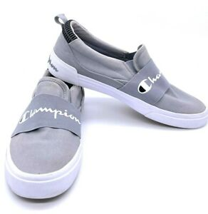 Champion Men's Rally Slip On Canvas Sneakers Shoes Gray Size 10M Nice!