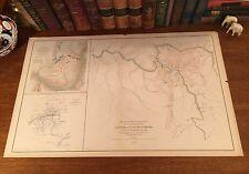 Original Antique Civil War Reconnaissance Map VIRGINIA WEST VIRGINIA Battles